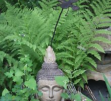 Buddah  in Ferns of  Green by eoconnor