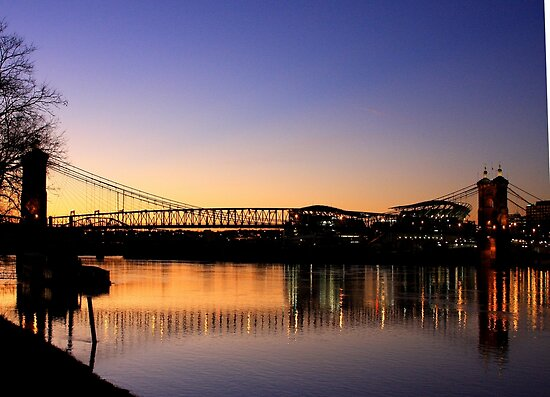 Cincinnati Sunset - View From Covington Kentucky by Tony Wilder