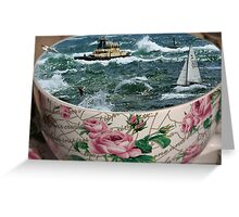 Storm In A Teacup Greeting Card