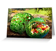 Exotic Melons Greeting Card