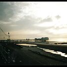 Blackpool pier at dusk by badkarma
