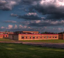 Highschool Cloudscape by Aaron Campbell