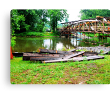 Millmont or Glen Iron Covered bridge_Union Co, PA Canvas Print