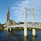 Infirmary Bridge, Inverness, Scotland. by Roy  Massicks