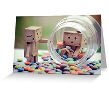 caught in a cookie (sweets) jar... Greeting Card