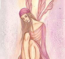 'Shy Faery' Fantasy Artwork by Rebecca Barkley