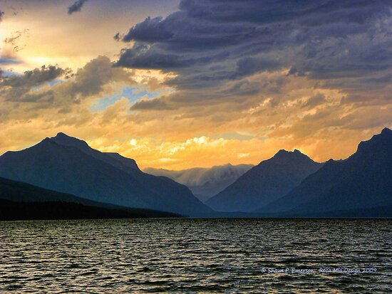 Lake MacDonald Evening by rocamiadesign