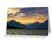 Lake MacDonald Evening Greeting Card