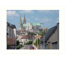 La Cathédrale Notre-Dame de Chartres Art Print