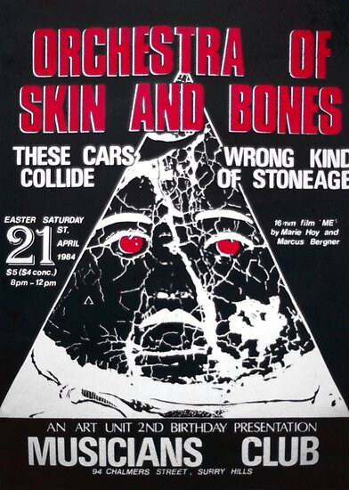 Orchestra of Skin and Bone band poster by ArtUnit