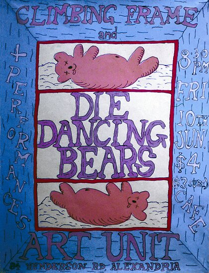 Die Dancing Bears and Climbing Frame band poster by ArtUnit