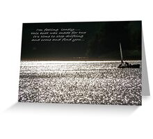 Changing Course...... Greeting Card