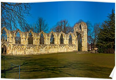 Ruins of St Mary&#x27;s Abbey  -  York by Trevor Kersley