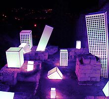 """Light in Jerusalem - """"And the City shall be Built upon her own Mound"""" II by Igor Shrayer"""