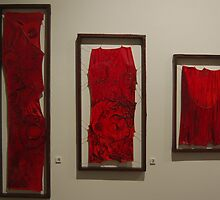 Flesh, oil paint & organic collage, 2010 by Becky Nevin