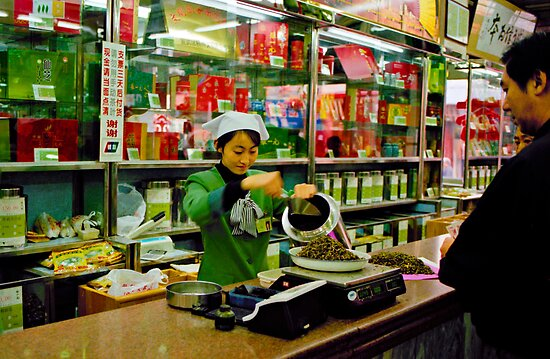 Tea shop, Beijing, China by Andrew Jones