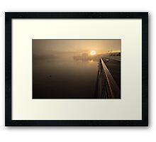 """Board Walk, with a sepia feel"" Framed Print"