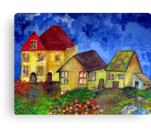 Houses and homes Canvas Print