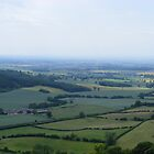 the view from the top of Sutton Bank by monkeyferret