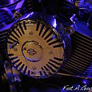 Blue light  Harley - Davidson. by Brown Sugar .Views (439)  Favorited by (3) Featured* *  thank you so much !!!Thank you buddies !!! by AndGoszcz