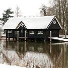 Boathouse in the snow by steppeland