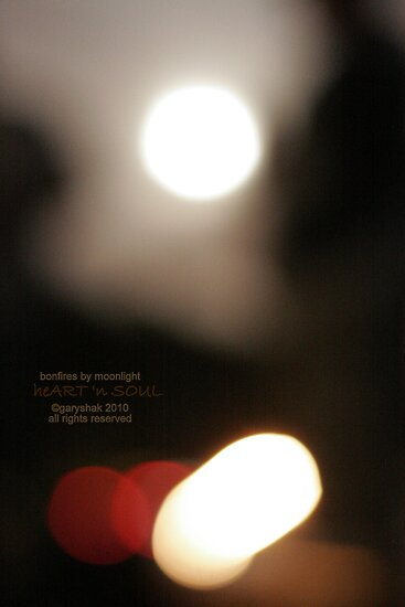 bonfires by moonlight by gabryshak
