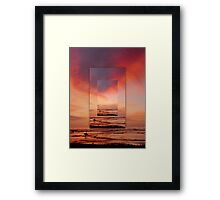 """Solana Beach Sunset"" Framed Print"