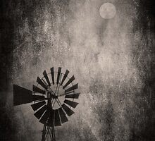 Moonlit Windmill by garts
