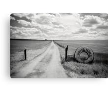 Mallee Farm Track, South Australia Canvas Print