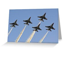 USAF Thunderbirds Greeting Card