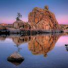 Big Rock Dusk by Bob Larson