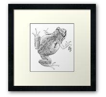McDonald's Frog (ink detail) Framed Print