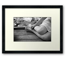 an afternoon with her Framed Print