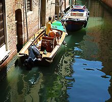 Typical Scene in Venice- Boat Repairs by Keith Richardson