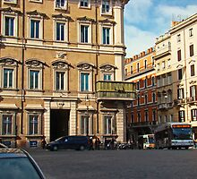 Palazzo Bonaparte, Rome Italy by Al Bourassa