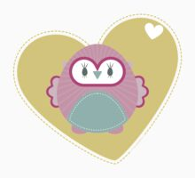 OWL SERIES :: heart hoot 2 by Kat Massard