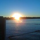 Yamba Marine Harbour Sunset  by mya1