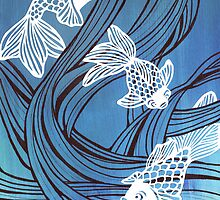 White fish - paper cut by RabbitMcComb