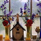 Spring Windowsill ~ Rainy Texas Morning by Linda Woods
