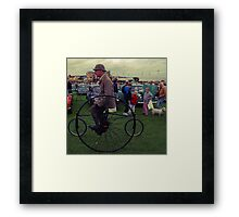 Man on a Penny Farthing Framed Print