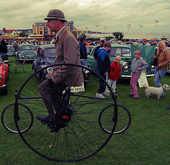 Man on a Penny Farthing by DeePhoto