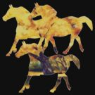 Painted Horses ~ T-shirt & sticker by Barbara Applegate
