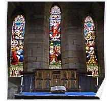 Holy Island Church Poster