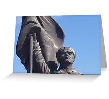 Soviet Soldier statue - Memento Park, Budapest, Hungary Greeting Card