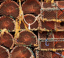 Lobster pots - Seahouses Harbour, UK by Derek McMorrine