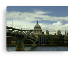 London Millennium Bridge Canvas Print