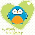 OWL SERIES :: heart - daddy is a hoot 3 by Kat Massard