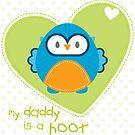 OWL SERIES :: heart - daddy is a hoot 3 by Kat Massard