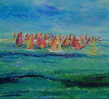 Sailing Boats by Christine Clarke