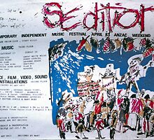 Sedition poster for Art Unit at the Sydney Trade Union Club 1983 by ArtUnit